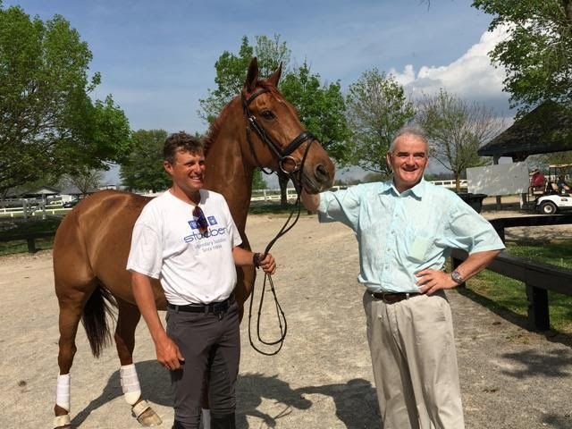 Boyd Martin, Blackfoot Mystery and breeder John O'Meara reunited at Rolex Kentucky. (Courtesy of Boyd Martin)