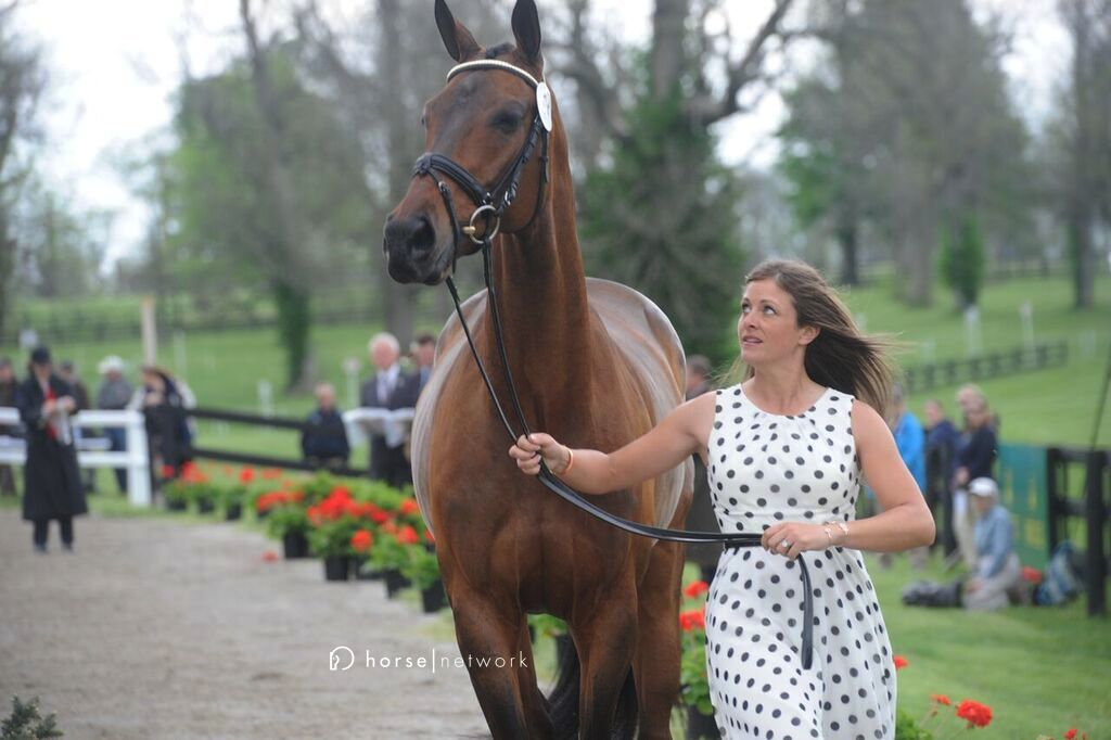 "Rolex mainstay Lynn Symansky giving Donner the ""Don't you dare..."" look."