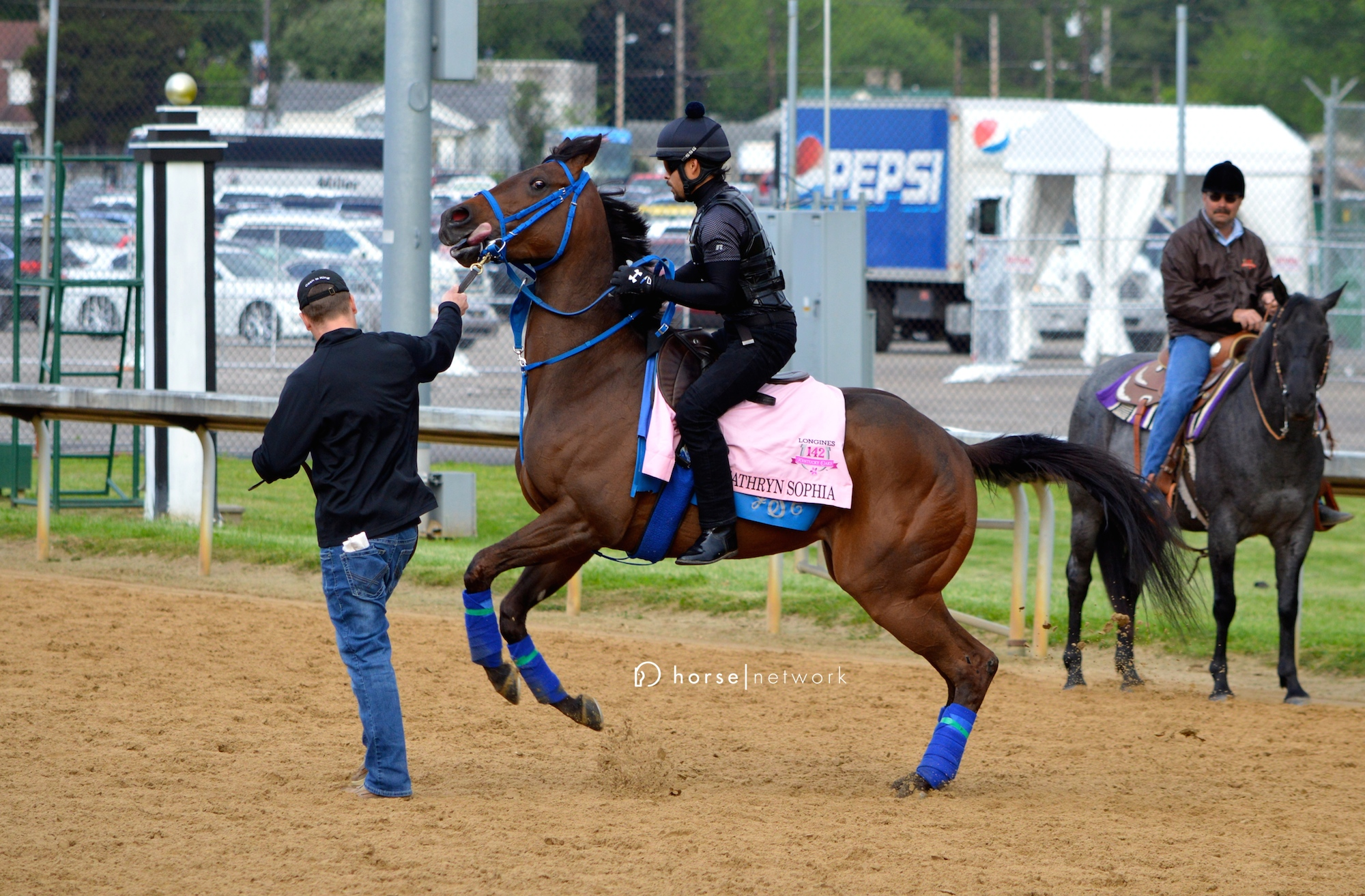 Freakishly fast filly Cathryn Sophia was on her toes Wednesday morning.