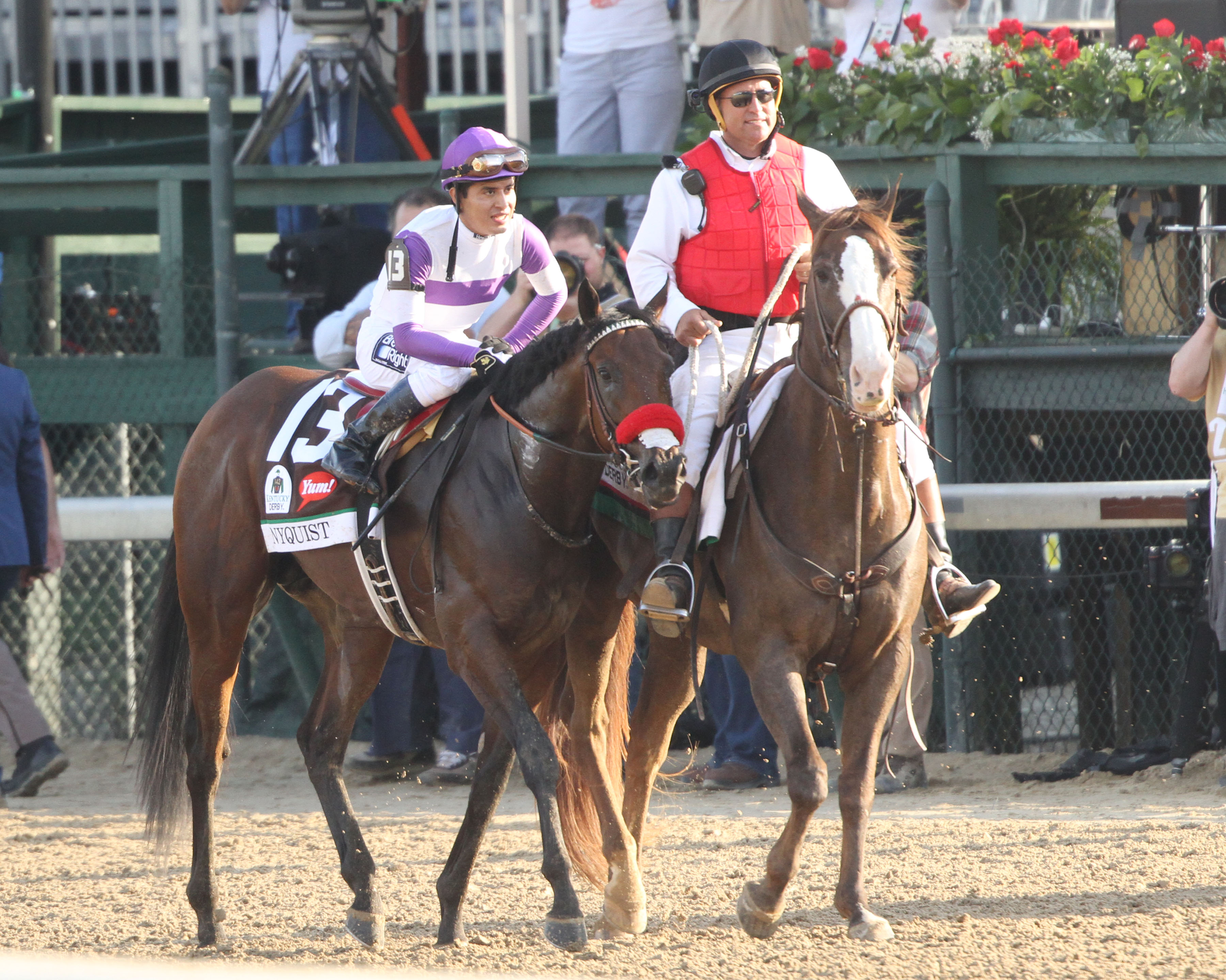 Gutierrez was all smiles after winning his 2nd Kentucky Derby with Nyquist, who he has ridden in all 8 career starts. ©Coady Photography